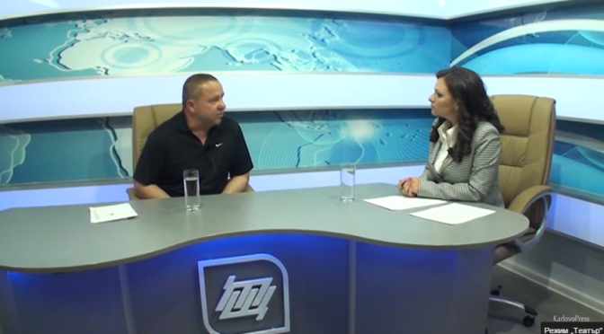 Телевизионно интервю с кмета на Калофер