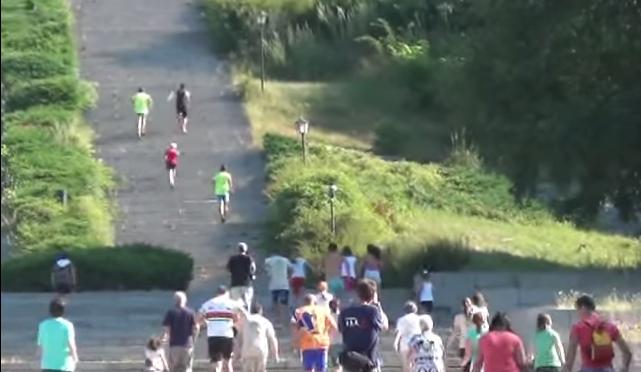 В Калофер се проведе състезание по изкачване на стълбите до паметника на Ботев