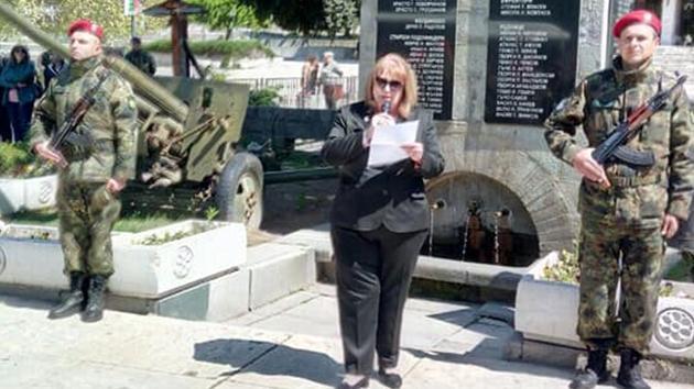 В Калофер отдадоха почит на героите по повод предстоящия Ден на храбростта